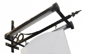 Traditional Iron Bracket Wall Sign with Trough Light